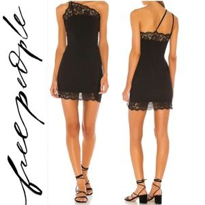 New Free People Black Premonitions Bodycon Dress